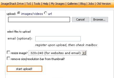 Comment poster une image sur le forum ? Imageshack1